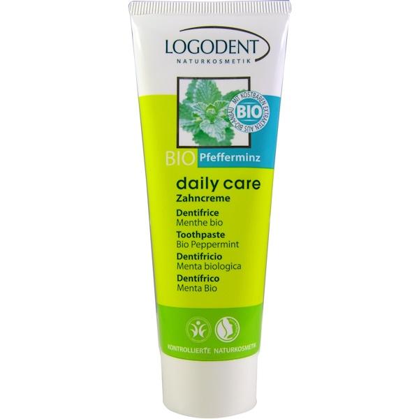 Logona Naturkosmetik, Toothpaste, Bio Peppermint, 2.5 fl oz (75 ml) (Discontinued Item)