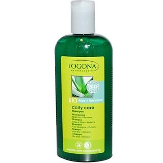 Logona Naturkosmetik, Daily Care, Shampoo, Organic Aloe + Verbena, 8.5 fl oz (250 ml)