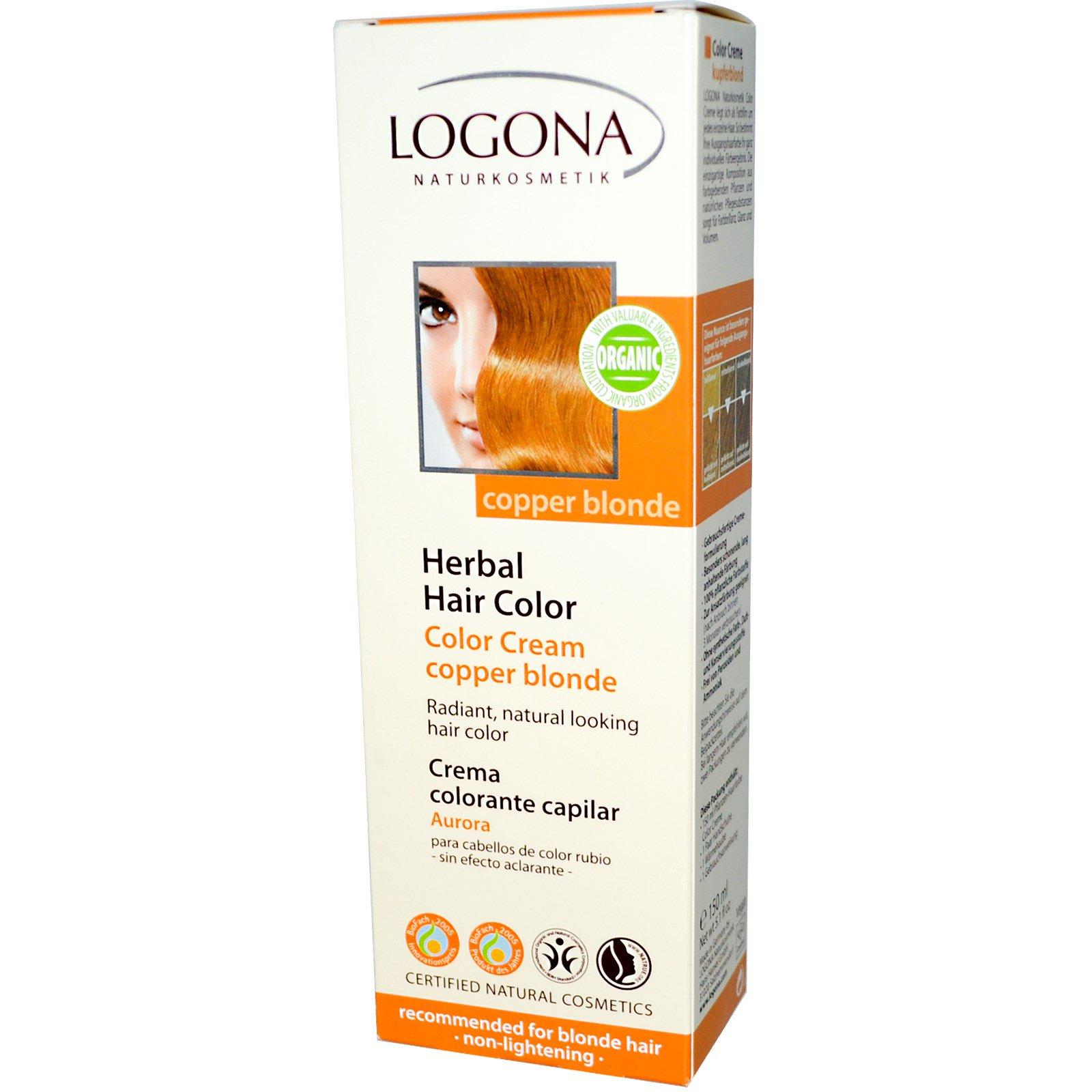 Logona Naturkosmetik Herbal Hair Color Copper Blonde 51 Fl Oz
