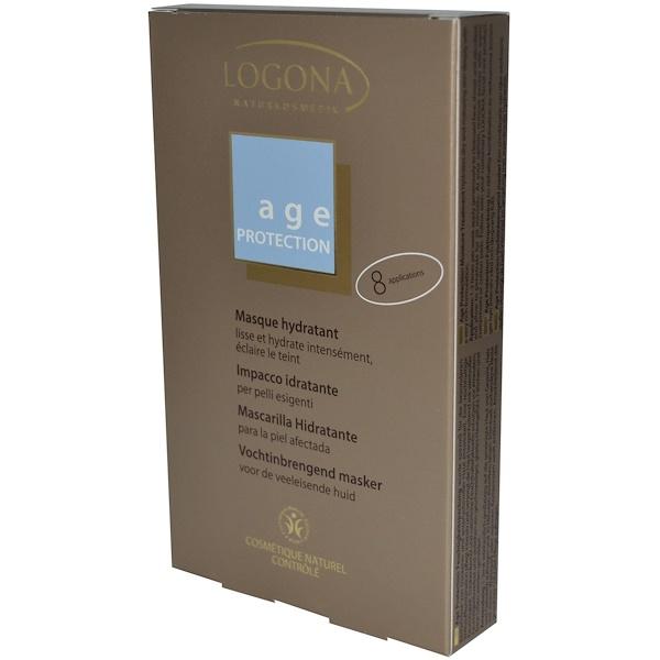 Logona Naturkosmetik, Age Protection, Moisture Treatment, 8 Applications, 7.5 ml Each  (Discontinued Item)