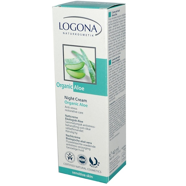 Logona Naturkosmetik, Organic Aloe Night Cream, 1.35 fl oz (40 ml) (Discontinued Item)
