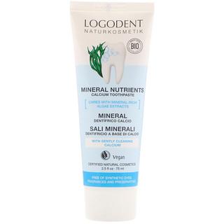 Logona Naturkosmetik, Mineral Nutrients Calcium Toothpaste, 2.5 fl oz (75 ml)