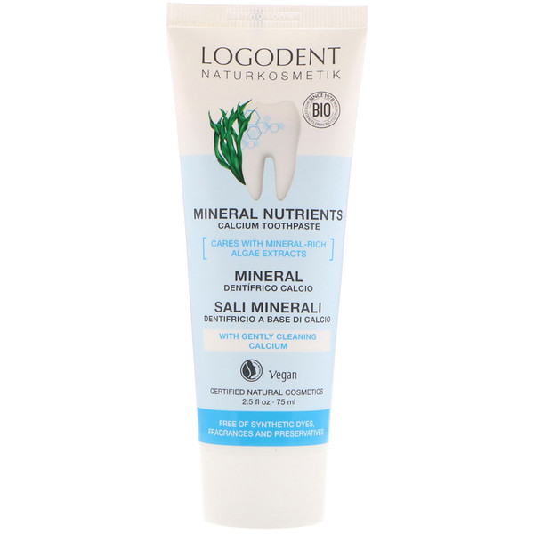 Logona Naturkosmetik, Mineral Nutrients Calcium Toothpaste, 2.5 fl oz (75 ml) (Discontinued Item)