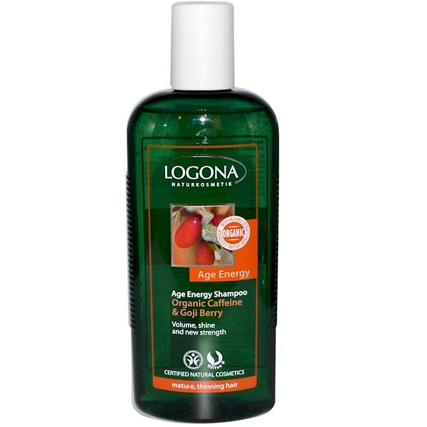 Logona Naturkosmetik, Age Energy Шампунь, органический кофеин, ягода годжи 8.5 жидких унции (250 мл) (Discontinued Item)