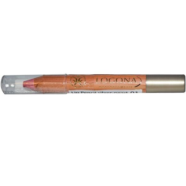 Logona Naturkosmetik, Lip Pencil, Silver-Pearl 01, 0.088 oz (2.49 g) (Discontinued Item)