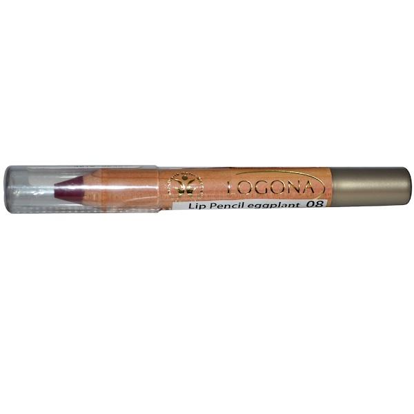 Logona Naturkosmetik, Lip Pencil, Eggplant 08, 0.088 oz (2.49 g) (Discontinued Item)