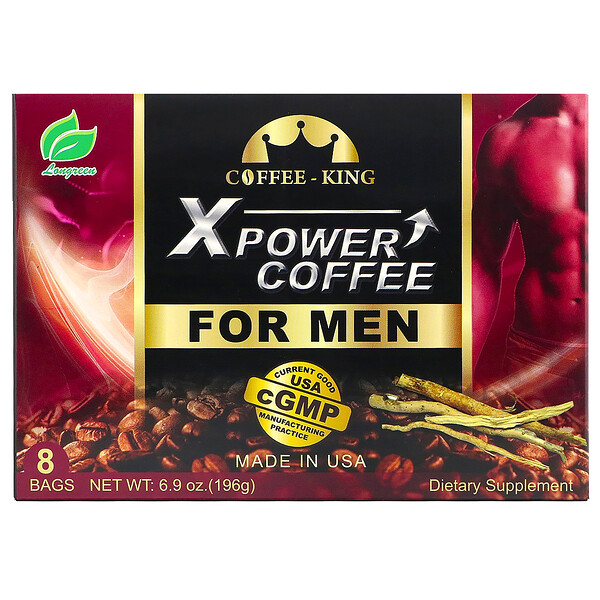 Xpower Coffee for Men, 8 Bags, 6.9 oz (196 g)