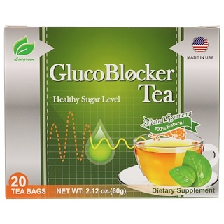 Longreen Corporation, GlucoBlocker Tea, 20 Tea Bags, 2.12 oz (60 g)
