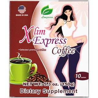 Longreen Corporation, Café minceur exprès, 10 sachets, 150 g (5,3 oz)