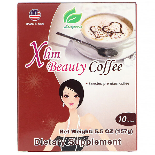 Longreen, Xlim Beauty Coffee, 10 Sachets 5.5 oz (157 g) (Discontinued Item)
