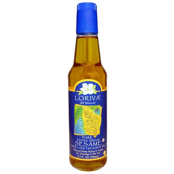 Loriva, All Natural, Pure Extra Virgin Sesame Expeller Pressed Oil, 12.7 fl oz (376 ml) (Discontinued Item)
