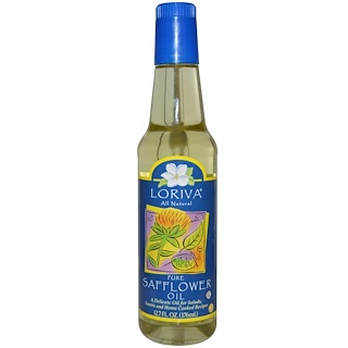 Loriva, Safflower, Cold Pressed Oil, 12.7 fl oz (376 ml)