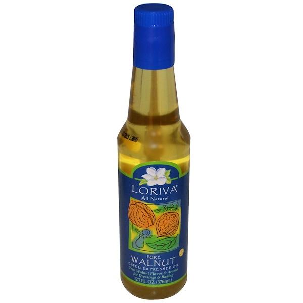 Loriva, Pure Walnut, Expeller Pressed Oil, 12.7 fl oz (376 ml) (Discontinued Item)