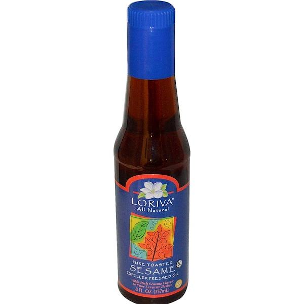 Loriva, Натуральное масло из поджаренного кунжута Экспеллер 8 жидких унции (237 мл) (Discontinued Item)