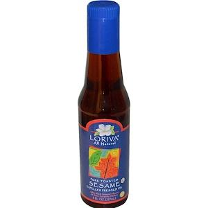 Лорива, Pure Toasted Sesame Expeller Pressed Oil, 8 fl oz (237 ml) отзывы