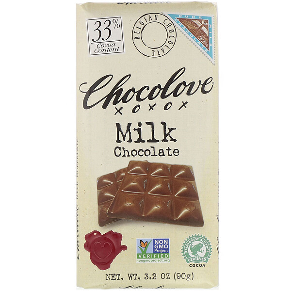 Chocolove, Milk Chocolate, 3% Cocoa, 3.2 oz (90 g)