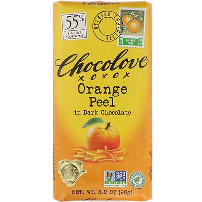Апельсиновая кожура в черном шоколаде, 3.2 унции (90 г.) casali schoko bananen суфле банановое в шоколаде 150 г