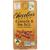 Chocolove, Almonds & Sea Salt in Dark Chocolate, 3.2 oz (90 g)