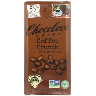 Chocolove, 커피 크런치 인 다크 초콜릿, 코코아 55%, 90g(3.2oz)