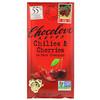 Chocolove, Chilies & Cherries in Dark Chocolate, 3.2 oz (90 g)