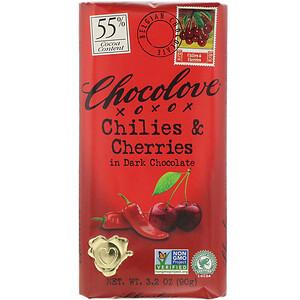 Чоколав, Chilies & Cherries in Dark Chocolate, 55% Cacao, 3.2 oz (90 g) отзывы покупателей
