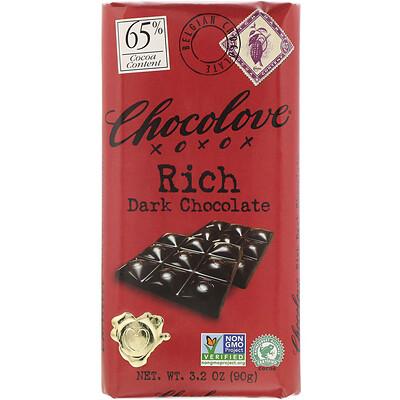 Купить Chocolove Rich Dark Chocolate, 65% Cocoa, 3.2 oz (90 g)