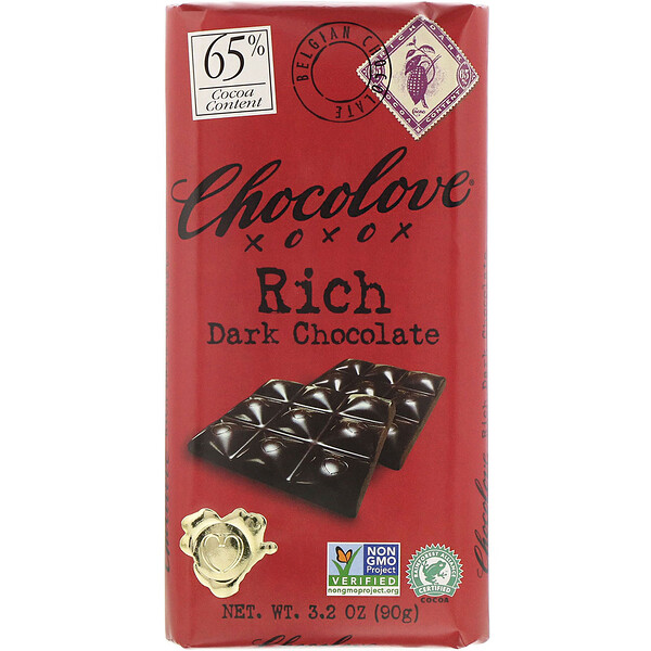 Rich Dark Chocolate, 65% Cocoa, 3.2 oz (90 g)