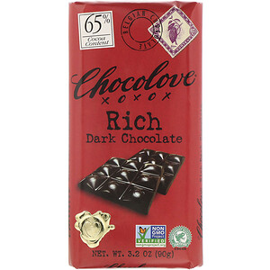 Чоколав, Rich Dark Chocolate, 65% Cocoa, 3.2 oz (90 g) отзывы покупателей
