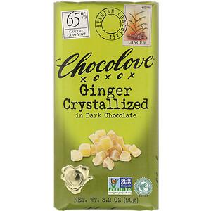 Чоколав, Ginger Crystallized in Dark Chocolate, 65% Cocoa, 3.2 oz (90 g) отзывы