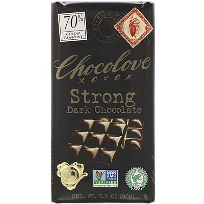 Купить Chocolove Strong Dark Chocolate, 70% Cocoa, 3.2 oz (90 g)