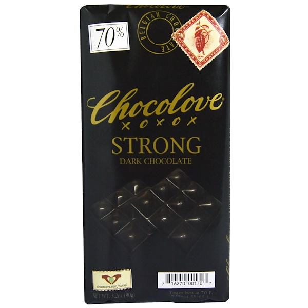 Chocolove, ストロングダークチョコレート、 3.2オンス (90 g)