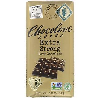 Chocolove, Extra Strong Dark Chocolate, 77 Cocoa, 3.2 oz (90 g)