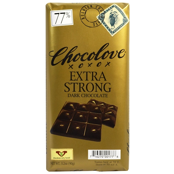 Chocolove, Экстра черный шоколад, 3.2 унций (90 г.)