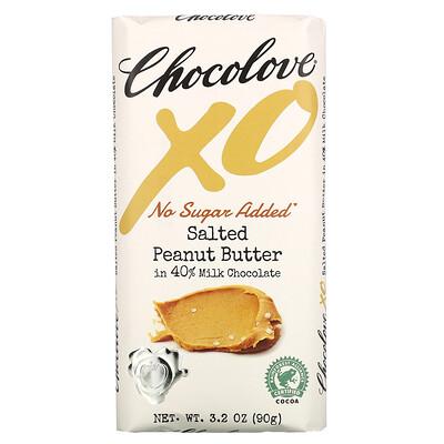 Купить Chocolove XO, Salted Peanut Butter in 40% Milk Chocolate Bar, 3.2 oz ( 90 g)