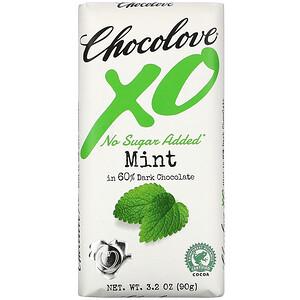 Чоколав, XO, Mint in 60% Dark Chocolate Bar, 3.2 oz (90 g) отзывы покупателей