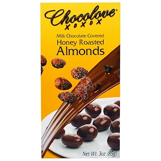 Chocolove, Milk Chocolate Covered Honey Roasted Almonds, 3 oz (85 g)