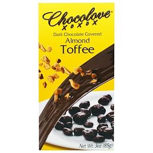 Чоколав, Dark Chocolate Covered Almond Toffee, 3 oz (85 g) отзывы