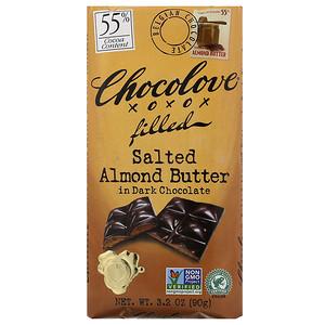 Чоколав, Salted Almond Butter in Dark Chocolate, 55% Cocoa, 3.2 oz (90 g) отзывы покупателей