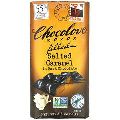 Chocolove, 焦糖夾心黑巧克力,55% 可可,3.2 盎司(90 克)