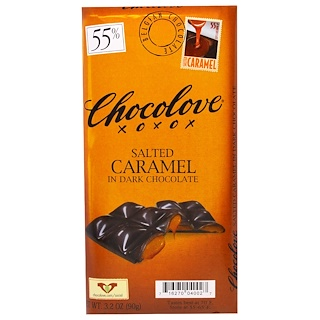 Chocolove, Salted Caramel in Dark Chocolate, 3.2 oz (90 g)