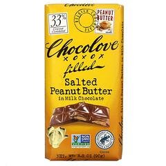 Chocolove, 牛奶巧克力鹹花生醬,含 33% 可可,3.2 盎司(90 克)