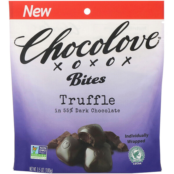 Chocolove, Bites, Truffle in 55% Dark Chocolate, 3.5 oz (100 g)