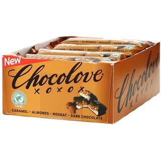 Chocolove, 焦糖杏仁果糖黑巧克力棒,12 支裝,1.4 盎司(40 克)/支