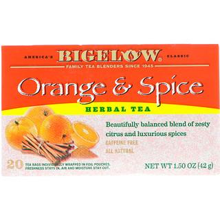 Bigelow, Herbal Tea, Orange & Spice, 20 Tea Bags, 1.50 oz (42 g)