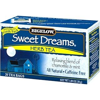 Bigelow, Sweet Dreams Herb Tea, Caffeine Free, 20 Tea Bags, 1.09 oz (30 g)