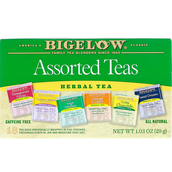 Bigelow, Assorted Teas, 18 Tea Bags, 1.03 oz (29 g) (Discontinued Item)
