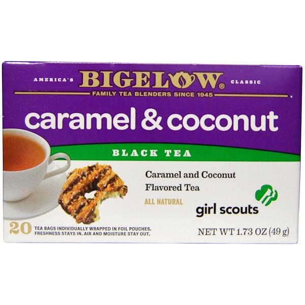 Bigelow, Black Tea, Girl Scouts Caramel & Coconut, 20 Tea Bags, 1.73 oz (49 g) (Discontinued Item)