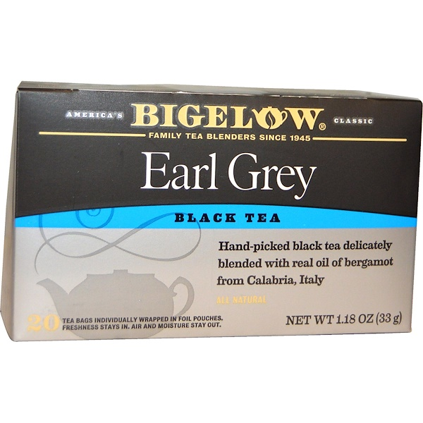 Bigelow, Black Tea, Earl Grey, 20 Tea Bags, 1.18 oz (33 g) (Discontinued Item)