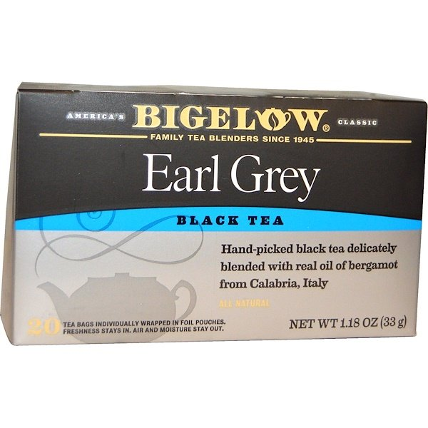 Bigelow, Black Tea, Earl Grey, 20 Tea Bags, 1.18 oz (33 g)