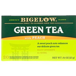 Bigelow, Green Tea with Peach, 20 Tea Bags, 0.91 oz (25 g)